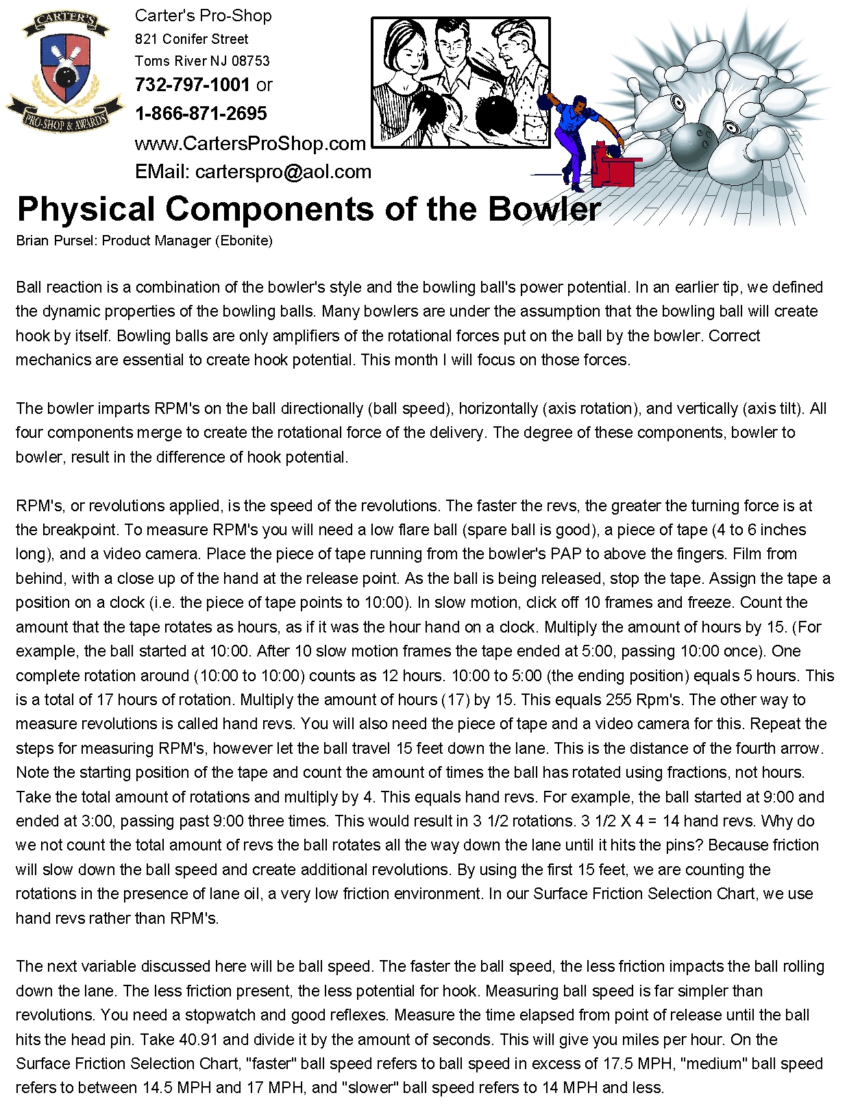 Physical Components Of The Bowler